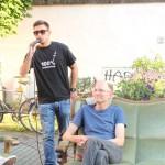 Stadtlabor unterwegs Kirchplatzgespräche_Daniel Sahib (azzis mit herz)  Jan Jacob Hofmann (jan & jan architektencooperation)